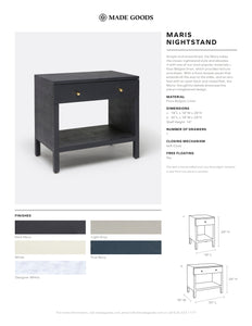Made Goods Maris Nightstand Tearsheet