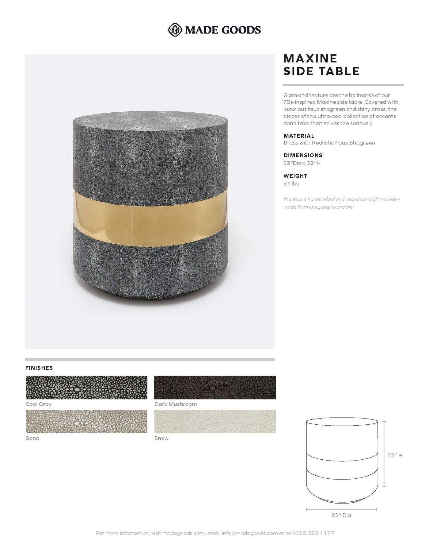 Made Goods Maxine Side Table Tearsheet