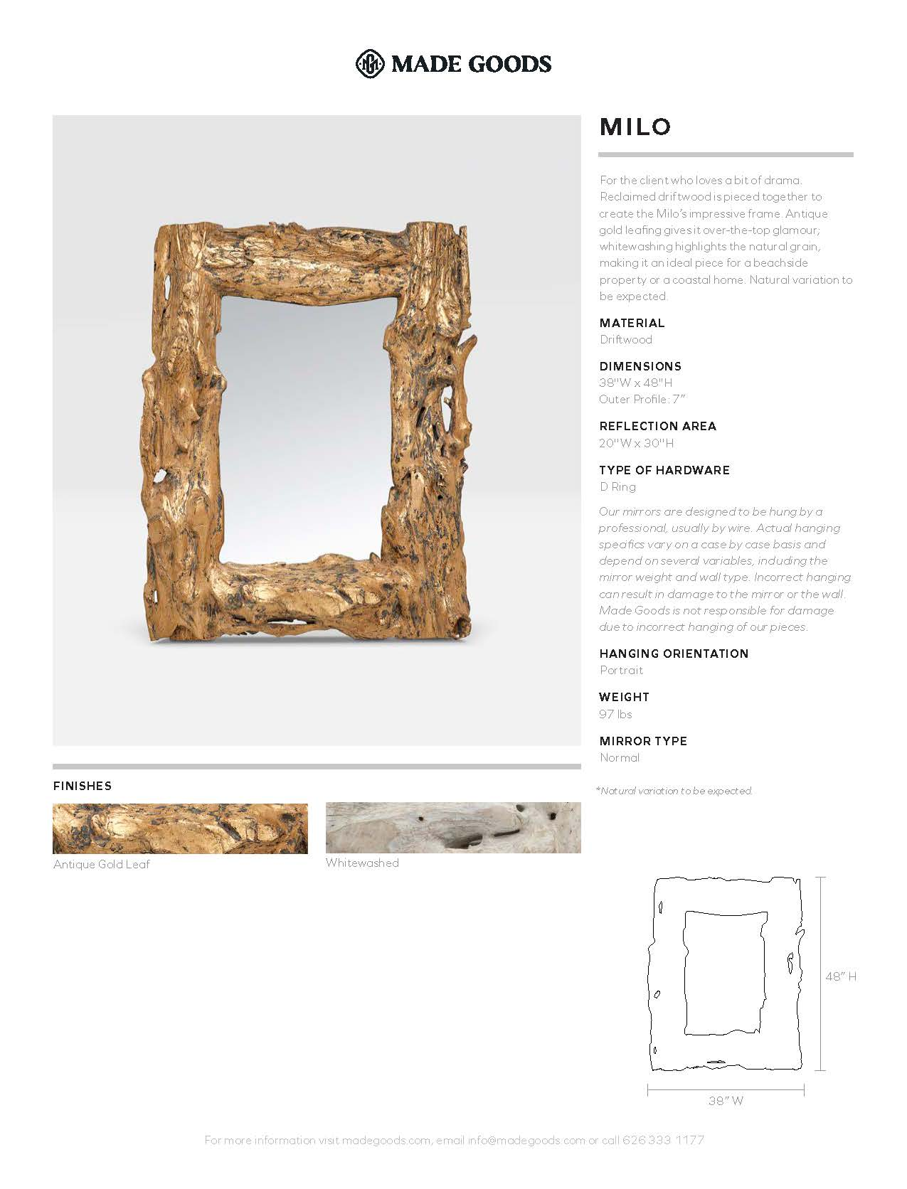 made goods milo antique gold driftwood tearsheet