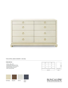 Bungalow 5 Ming Extra Large 8 Drawer Dresser Natural Tearsheet