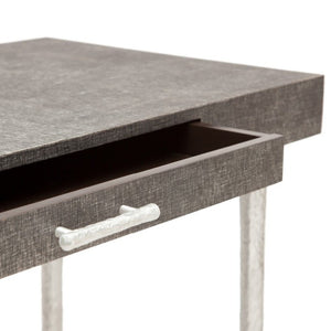Made Goods Audrey Desk Charcoal Linen