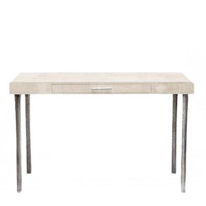 made goods audrey desk ivory faux shagreen desks modern desk