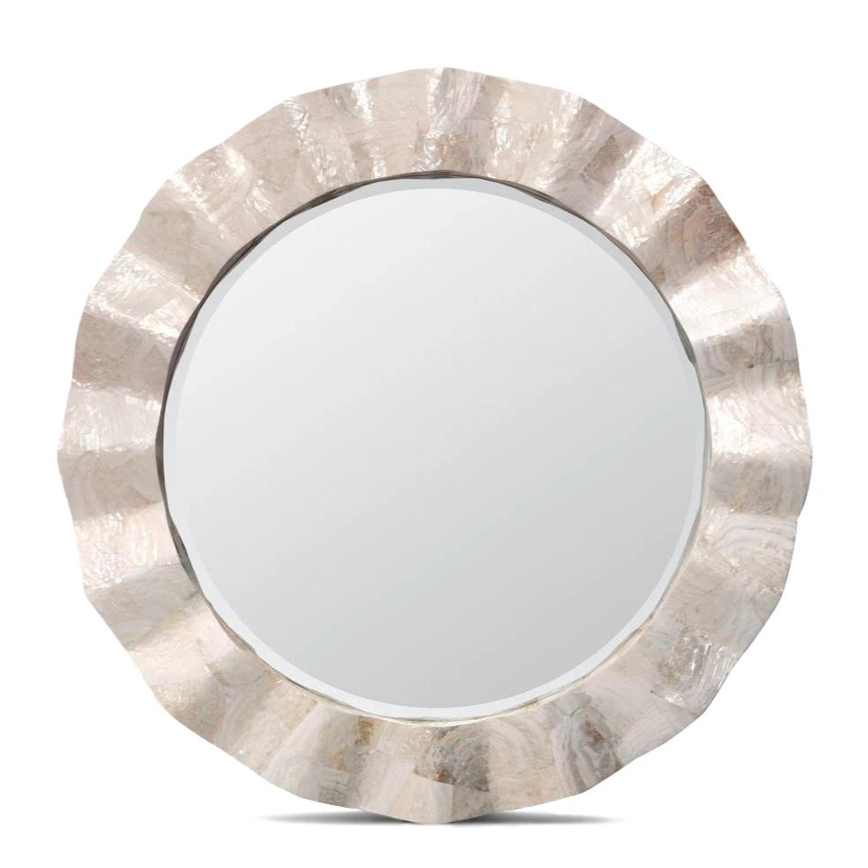 Made Goods Blake Mirror Kabibe round wall mirror shell