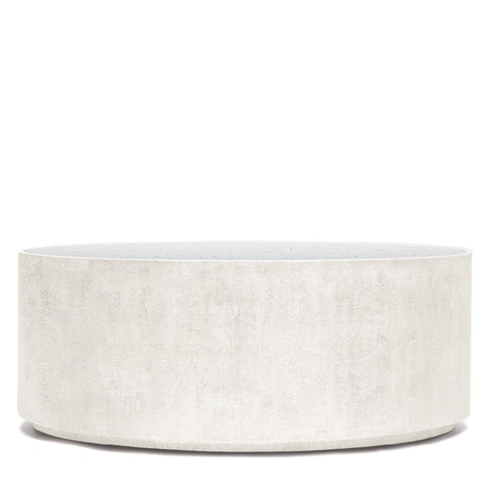 Made Goods Cara Oval Coffee Table Snow