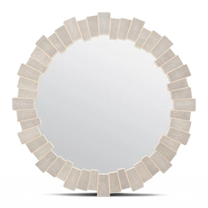 made goods claude mirror sand faux shagreen round