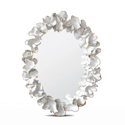 Made Goods Coco Mirror White with Gold Faux Coral
