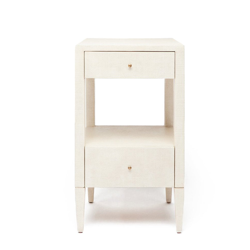 Made Goods Conrad Single Nightstand Off-White Raffia