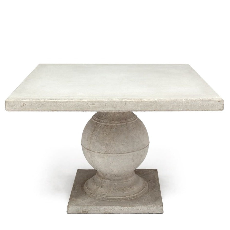 Made Goods Cyril Square Dining Table Aged White
