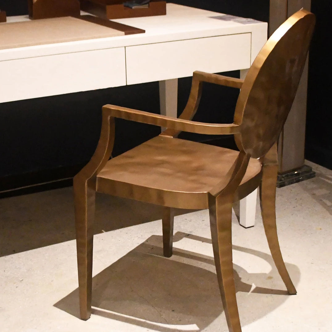 made goods Daphne side chair gold hammered desk chair