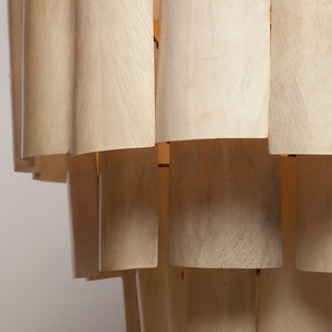 made goods marjorie chandelier cream banana leaf light modern chandelier lighting detail