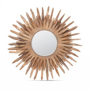 Made Goods Donatella Round Mirror Natural