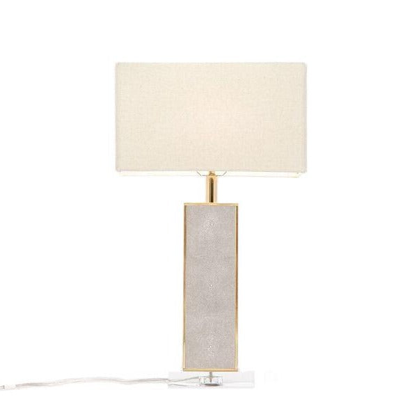 made goods kingston table lamp sand faux shagreen modern table lamp living room table lamp