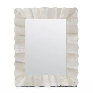 Made Goods Lara Rectangle Mirror Antique Silver