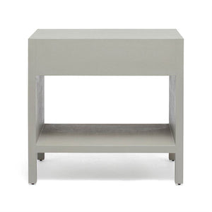 Maris Double Nightstand Light Grey Faux Belgian Linen