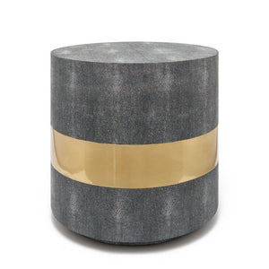 Made Goods Maxine Side Table Brass and Cool Gray