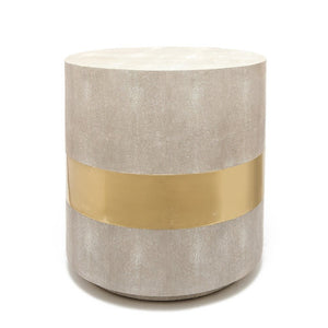 Made Goods Maxine Side Table Brass and Sand