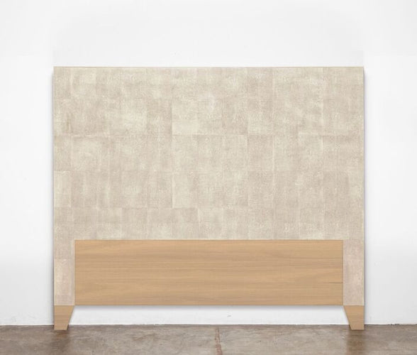 made goods morgan headboard ivory faux shagreen bedding MORGAN cool grey King- $1540, Queen- $1320; CK 1440