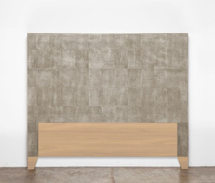 made goods morgan headboard sand faux shagreen bedding