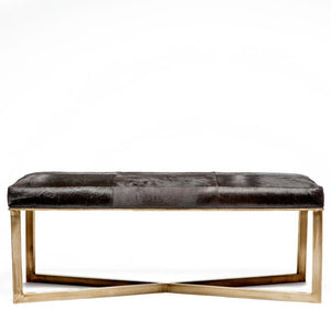 Made Goods Roger Double Bench Antiqued Brass