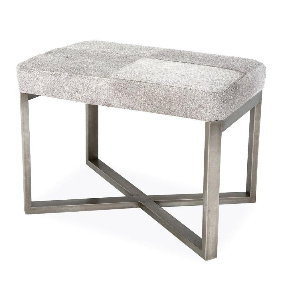 Made Goods Roger Single Bench Antiqued Silver