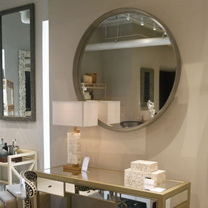Made Goods Thadeus Mirror Silver Round Hanging Wall