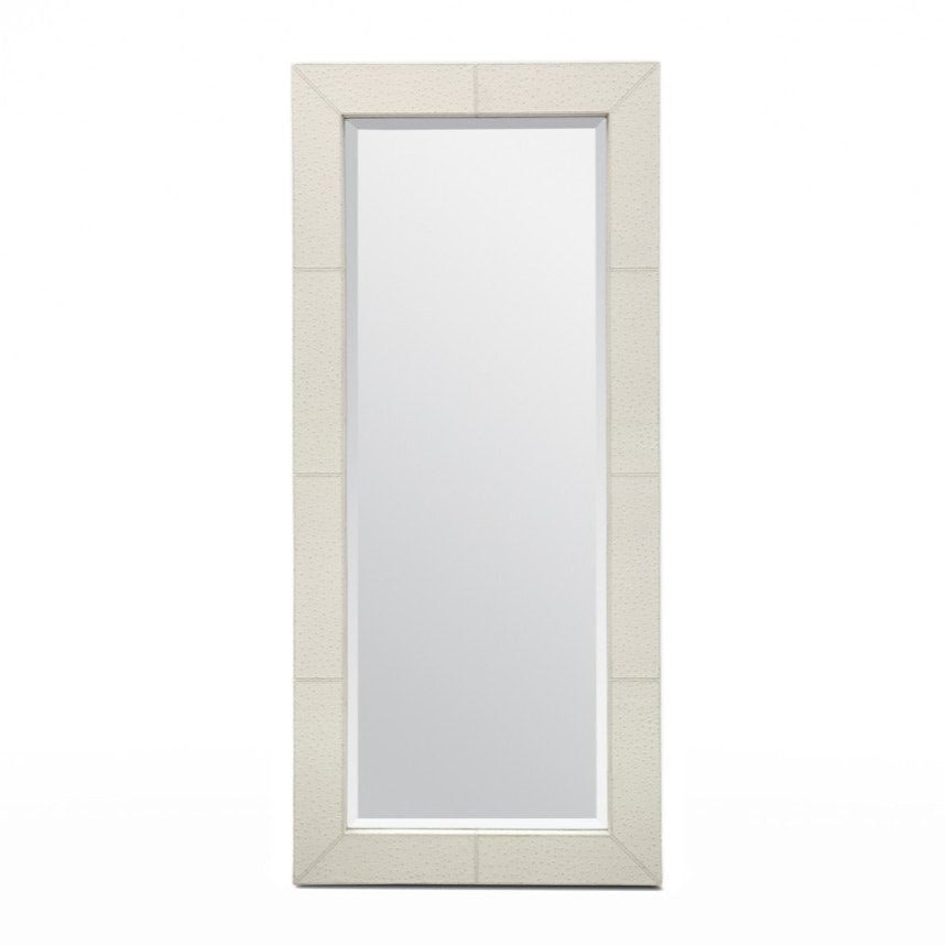 made goods zsa zsa mirror cream ostrich leather decorative mirrors large mirrors floor mirrors floor length
