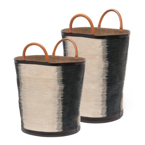 Made Goods Aubrie Bags Set of 2 Black Natural Ombre