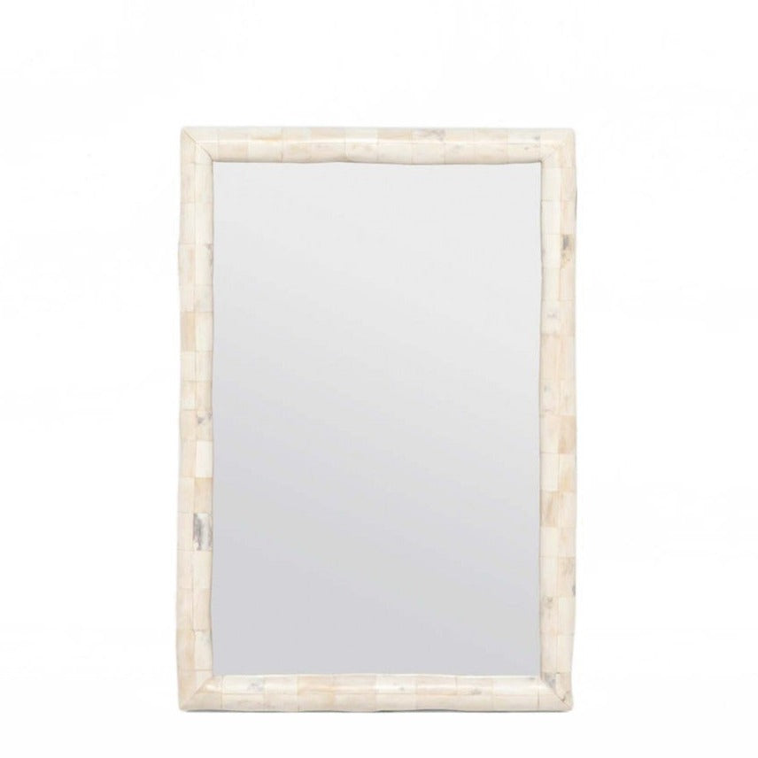 made goods pierson wall mirror polished bone cream to off-white cone PIERSON SM-$720; LG-$1200