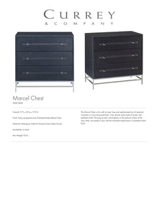 Currey & Company Marcel Chest Tearsheet