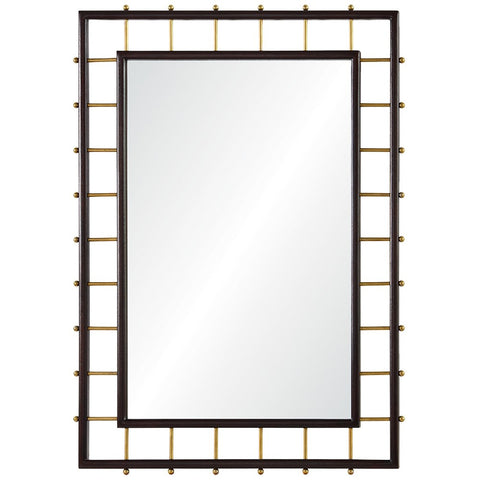 Mirror Image Home Dark Mahogany And Burnished Brass CK1101