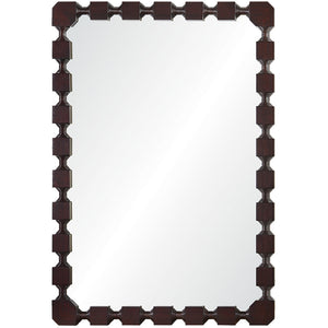 Mirror Image Home Dark Mahogany Rectangular Mirror CK1123