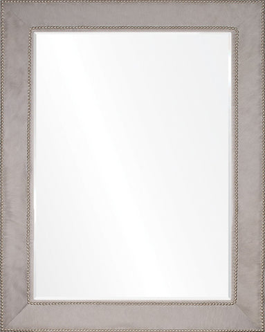 Mirror Image Home Gray Hide and Silver Nailhead Mirror 20378 mirror, mirrors, bathroom mirrors, wall mirrors, decorative mirrors, mirror edge, bar mirrors, long wall mirrors, large mirror, large mirrors, modern bathroom mirrors, vanity mirror, vanity mirrors, oversized wall mirror, bedroom mirrors, large wall mirrors, decorate wall mirrors, decorate wall mirror, big mirror, big mirrors, unique mirror, unique mirrors, oversized mirrors, oversized mirror, bathroom wall mirrors, bathroom wall mirror