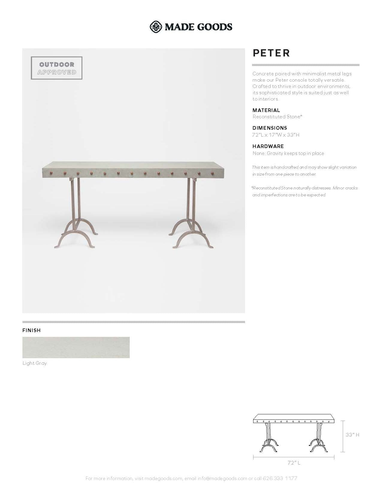 made goods peter console tearsheet