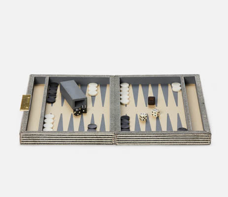 pigeon and poodle Bailey backgammon game set brown