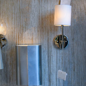worlds away bristol wall sconce nickel acrylic lighting