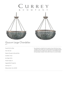 Currey & Company Quorum Large Chandelier Tearsheet