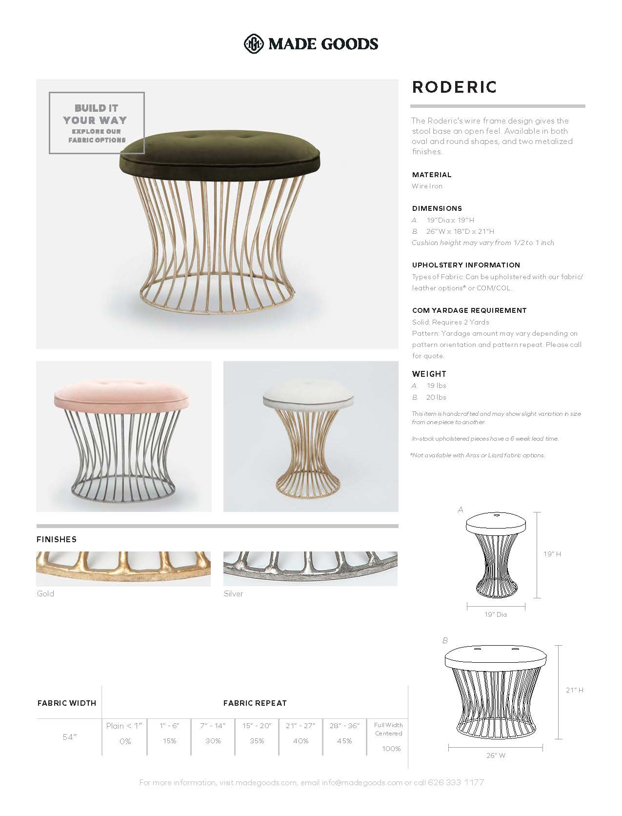 Made Goods Roderic Round Stool Tearsheet