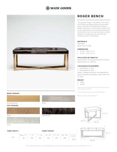Made Goods Roger Single Bench Tearsheet