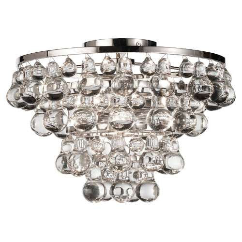 Robert Abbey Bling Flush Mount Polished Nickel S1002