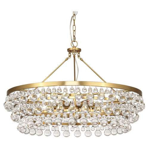 Robert Abbey Bling Large Chandelier Antique Brass 1004