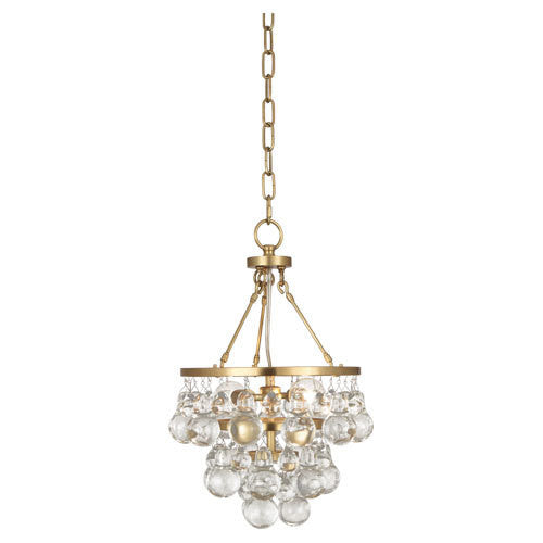 Robert Abbey Bling Small Chandelier Antique Brass Glass