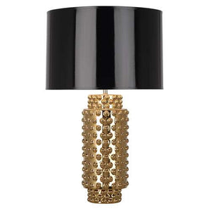 Robert Abbey Dolly Gold Table Lamp Black Shade G800B