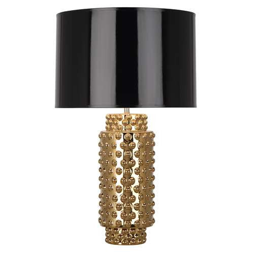 Robert abbey dolly table lamp black shade robert abbey dolly gold table lamp black shade g800b mozeypictures Image collections