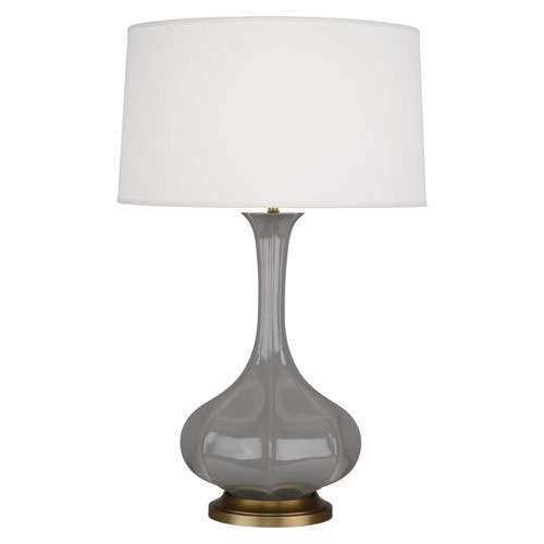 Robert Abbey Pike Table Lamp Smokey Taupe ST994