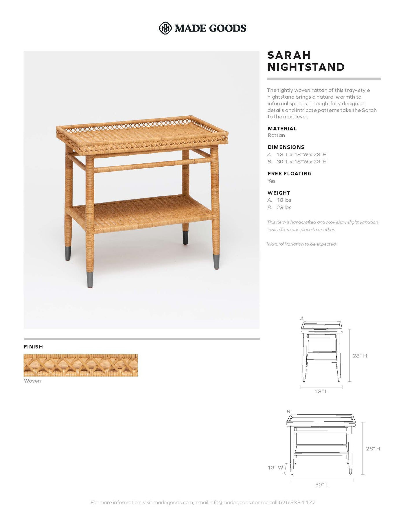 made goods sarah single nightstand tearsheet