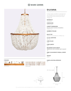 made goods silvana chandelier shell white metal tear sheet