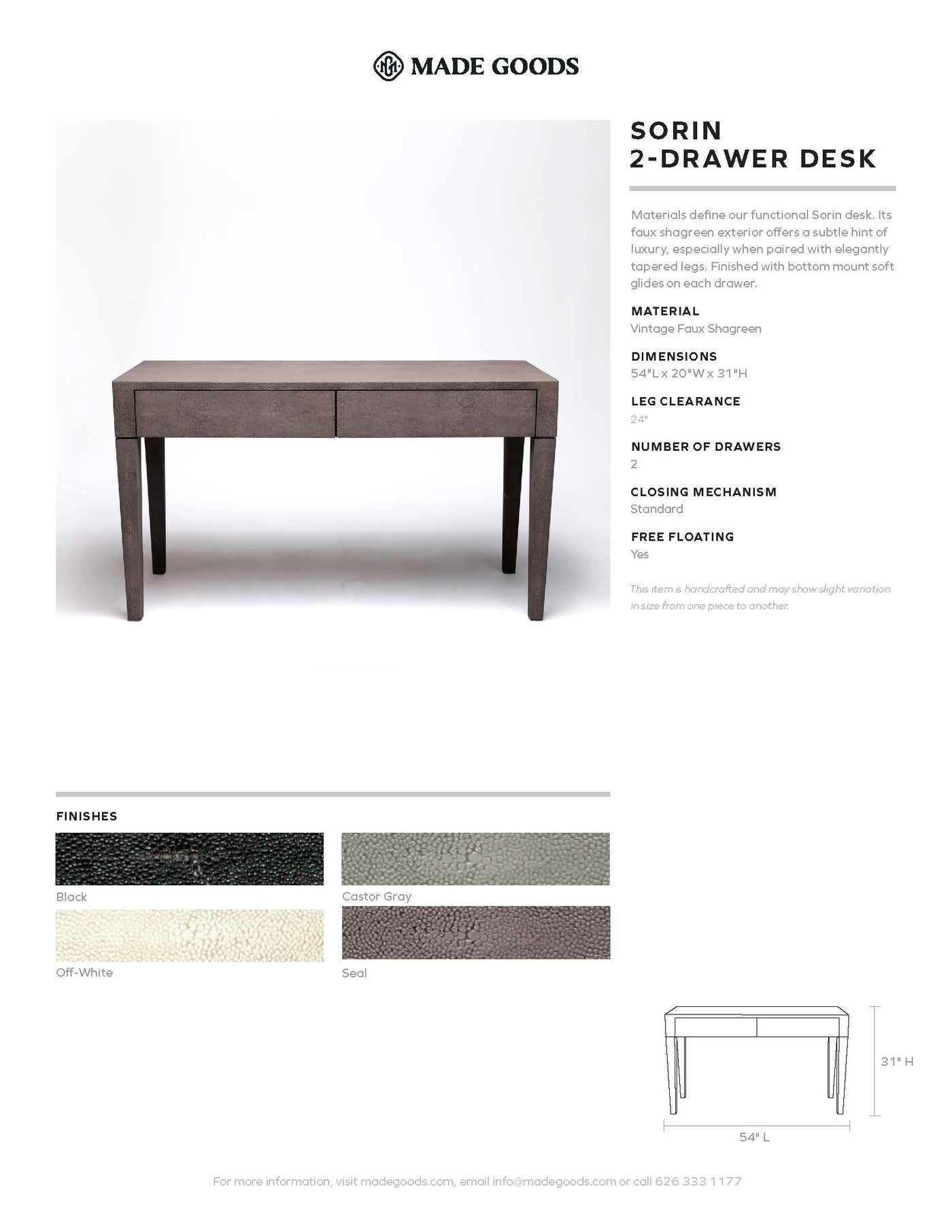 made goods sorin 2 two drawer desk tearsheet