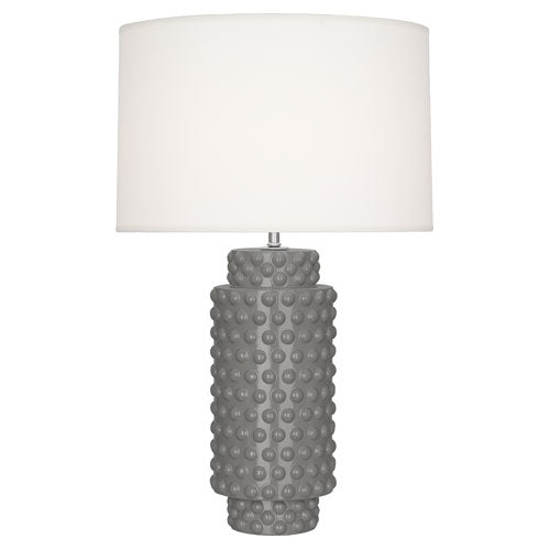 robert abbey dolly table lamp smoky taupe glaze