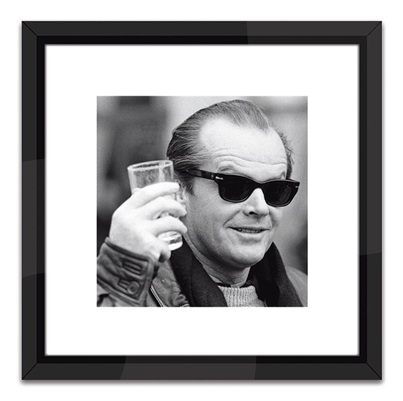jack nicholson artwork worlds away black and white photo wall art square photo