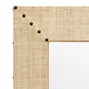 made goods Sachin mirror rectangle natural raffia